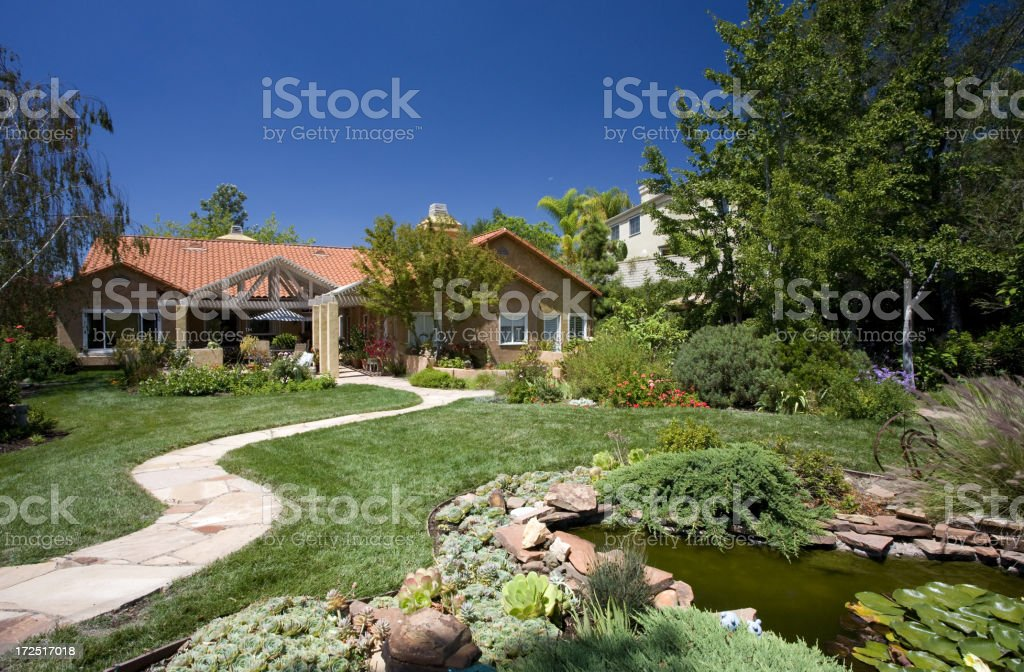 Family Home stock photo