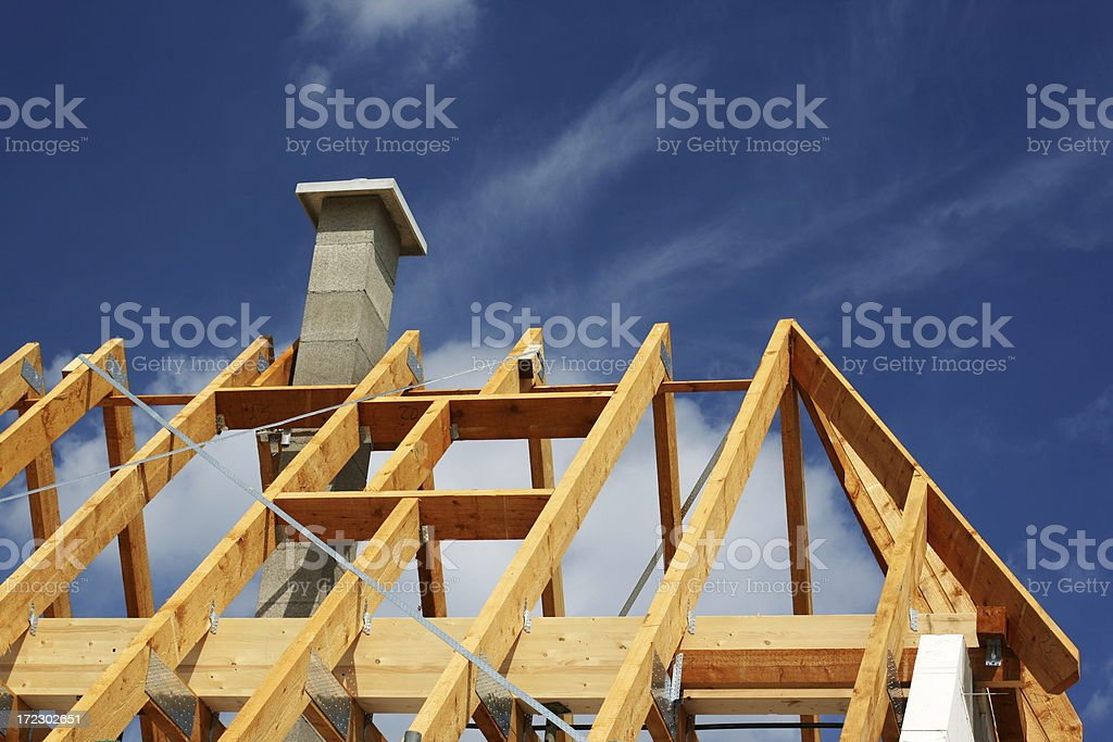 Family home under construction royalty-free stock photo