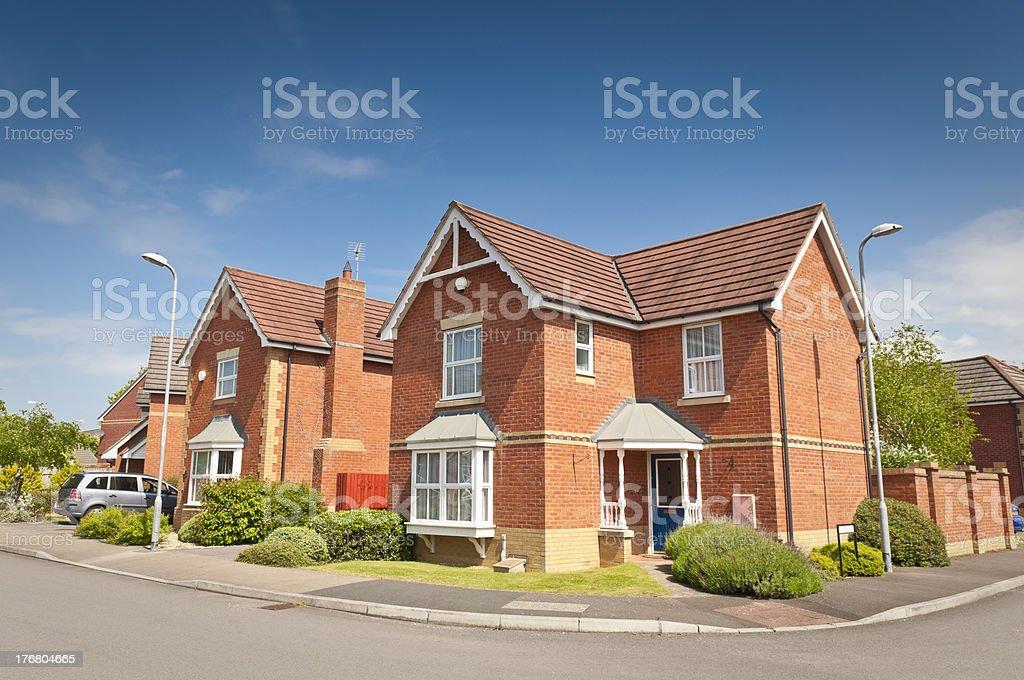 Family homes stock photo