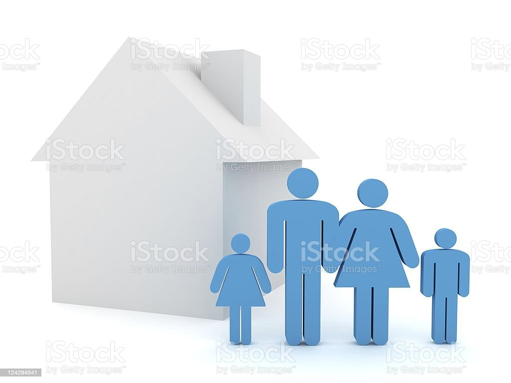 Family House stock photo
