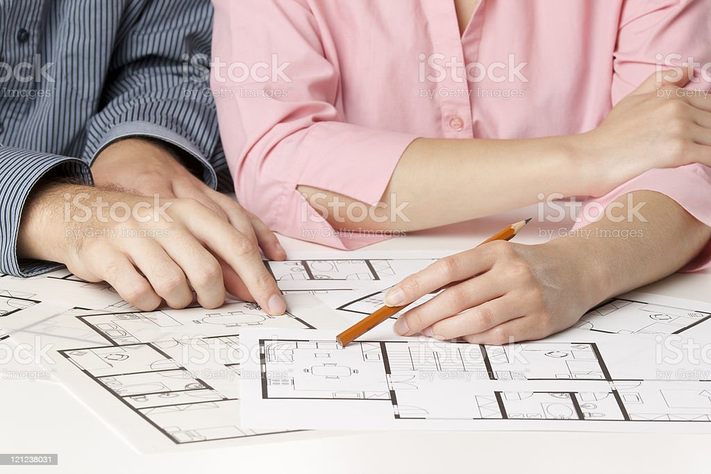 Family house planning royalty-free stock photo