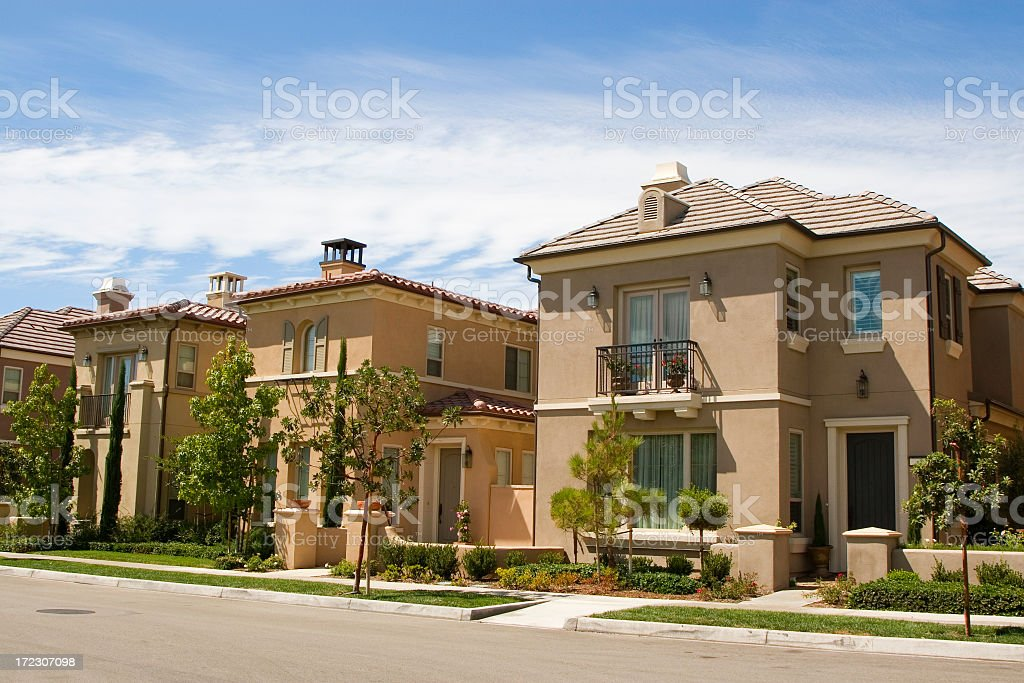 Family houses in Orange County stock photo