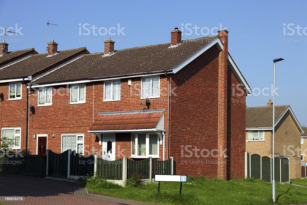 Family houses, uk royalty-free stock photo