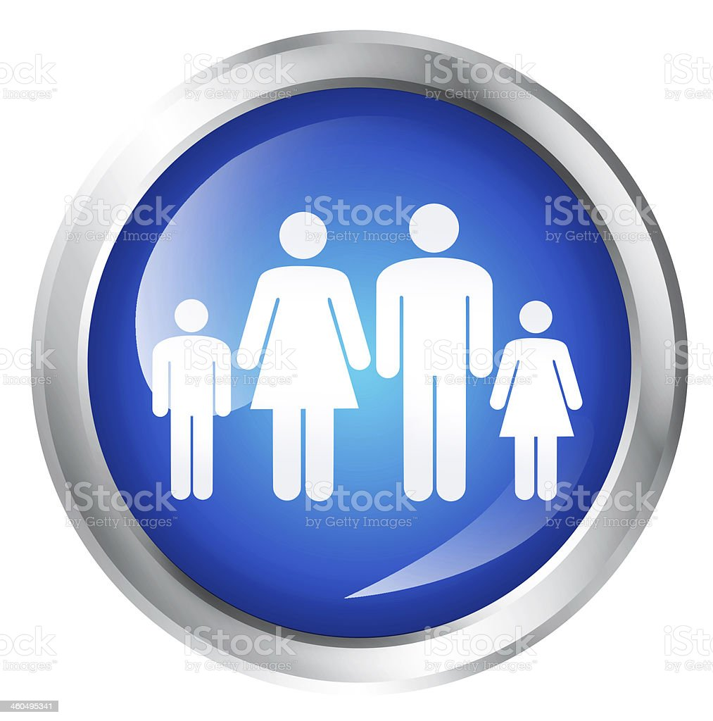 Family icon stock photo