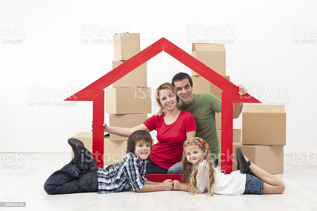 Family in a new home concept royalty-free stock photo