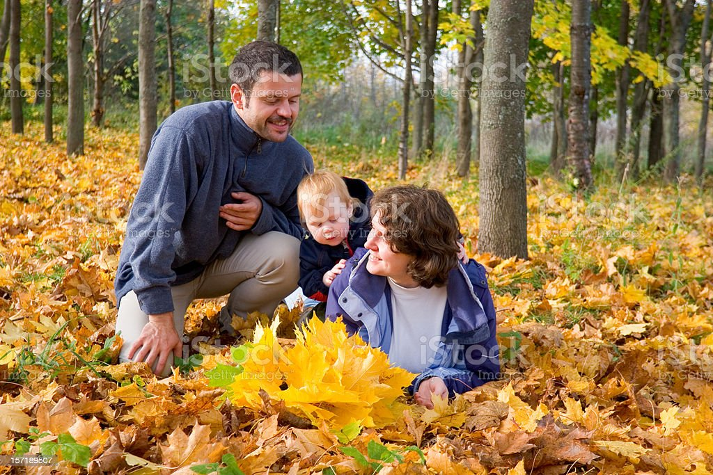 Family in Autumn royalty-free stock photo