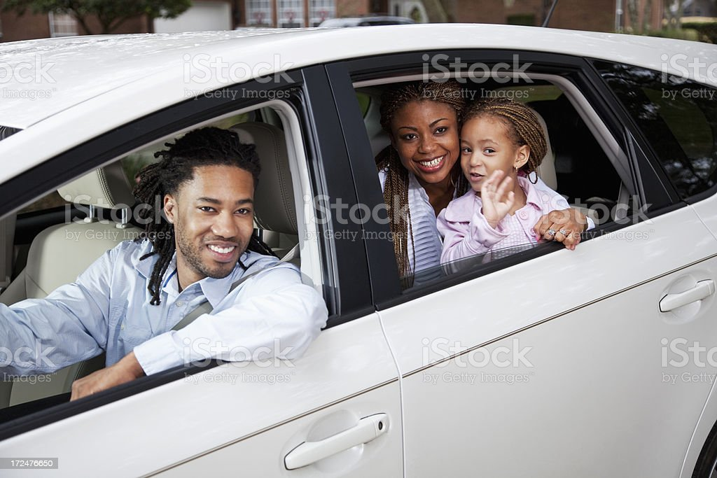 Family in car royalty-free stock photo