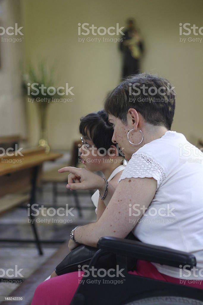 family in church royalty-free stock photo