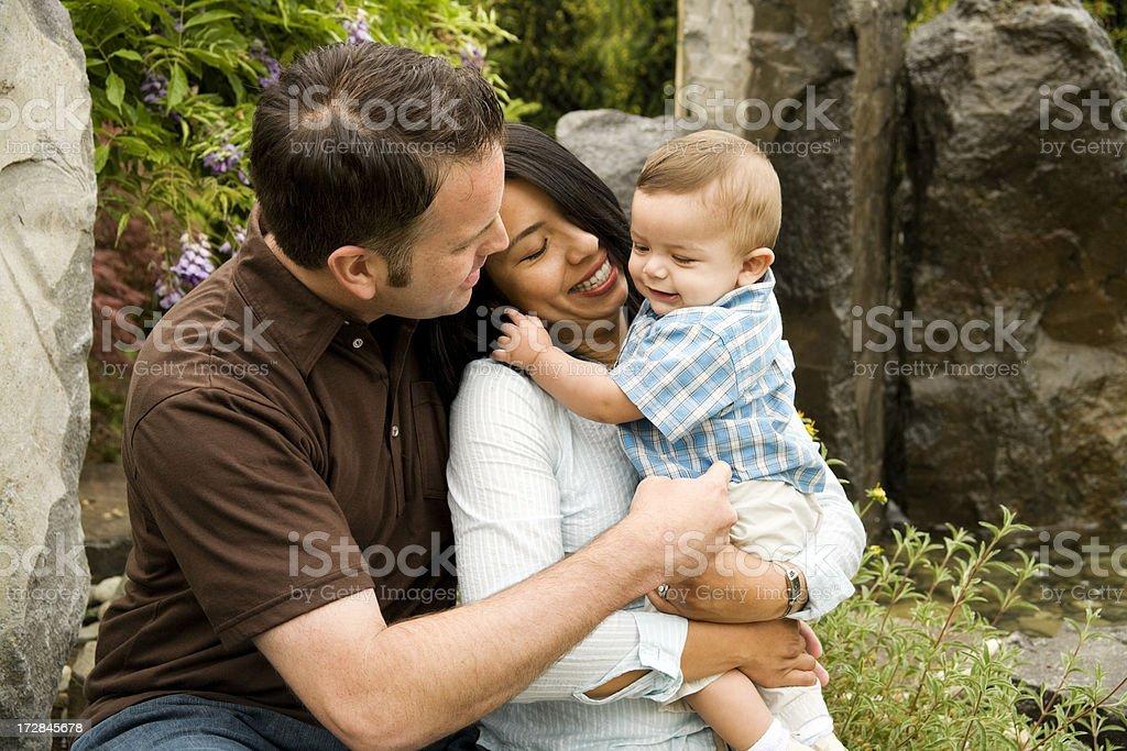 Family in Garden royalty-free stock photo