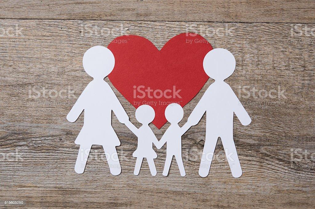 Family in love stock photo