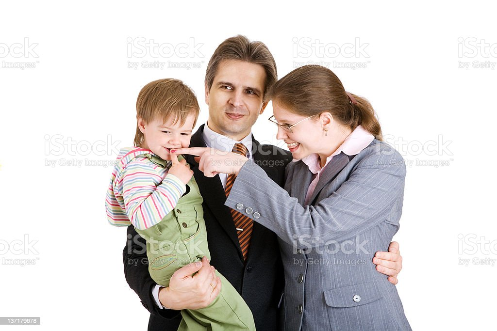 family in office royalty-free stock photo