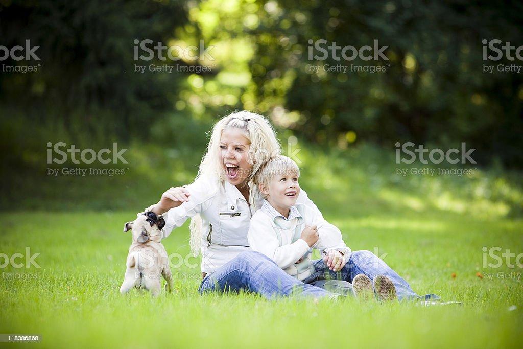 Family in Park stock photo