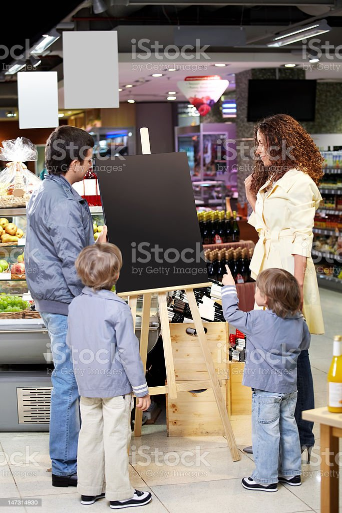 Family in shop royalty-free stock photo