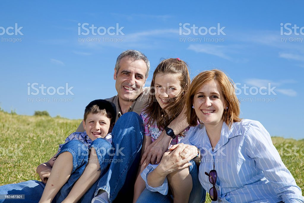 Family in Spring royalty-free stock photo
