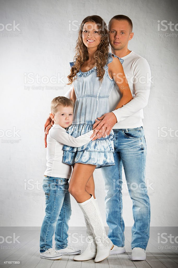 Family in studio royalty-free stock photo