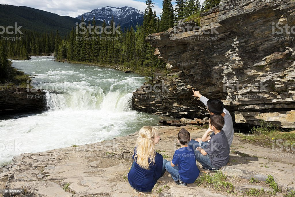 Family in the Mountains royalty-free stock photo