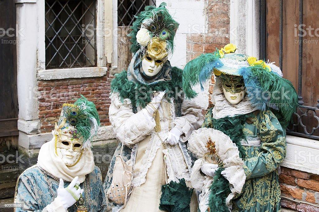 Family in Venice royalty-free stock photo
