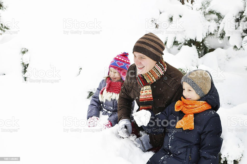 Family in Winter royalty-free stock photo