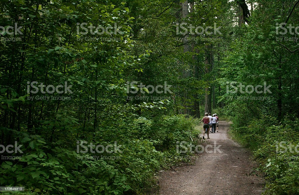 Family in woods royalty-free stock photo