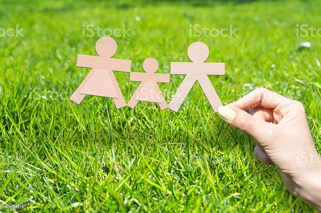 Family insurance concept stock photo