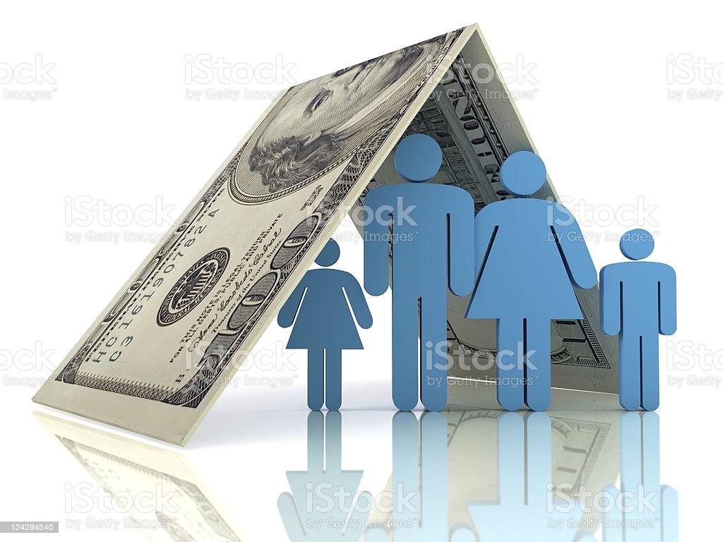 Family Insurance royalty-free stock photo