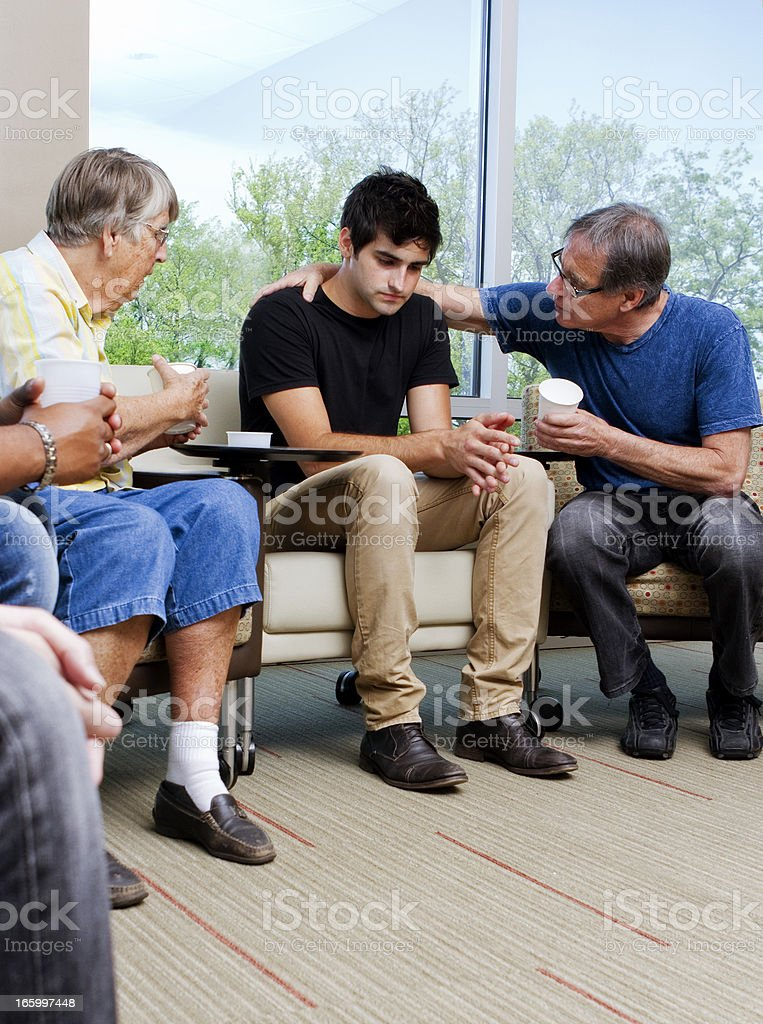 Family Intervention royalty-free stock photo