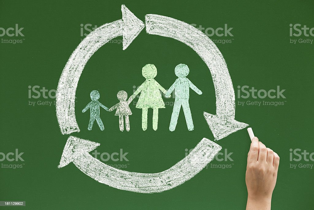 Family is a cycle of life royalty-free stock photo