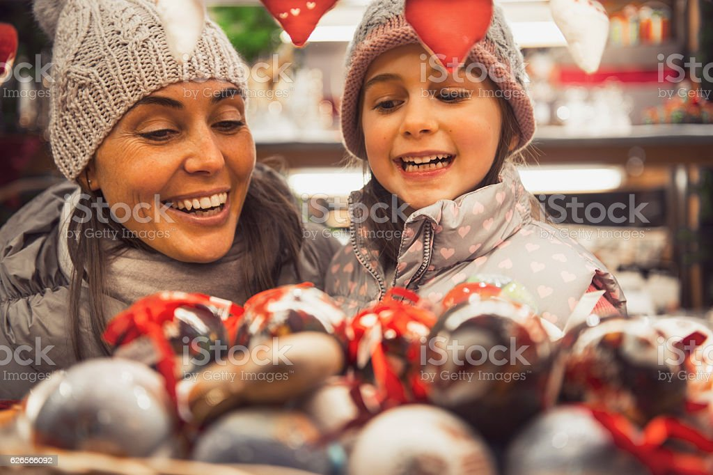 Family is looking forward to Christmas shopping - viatge look stock photo