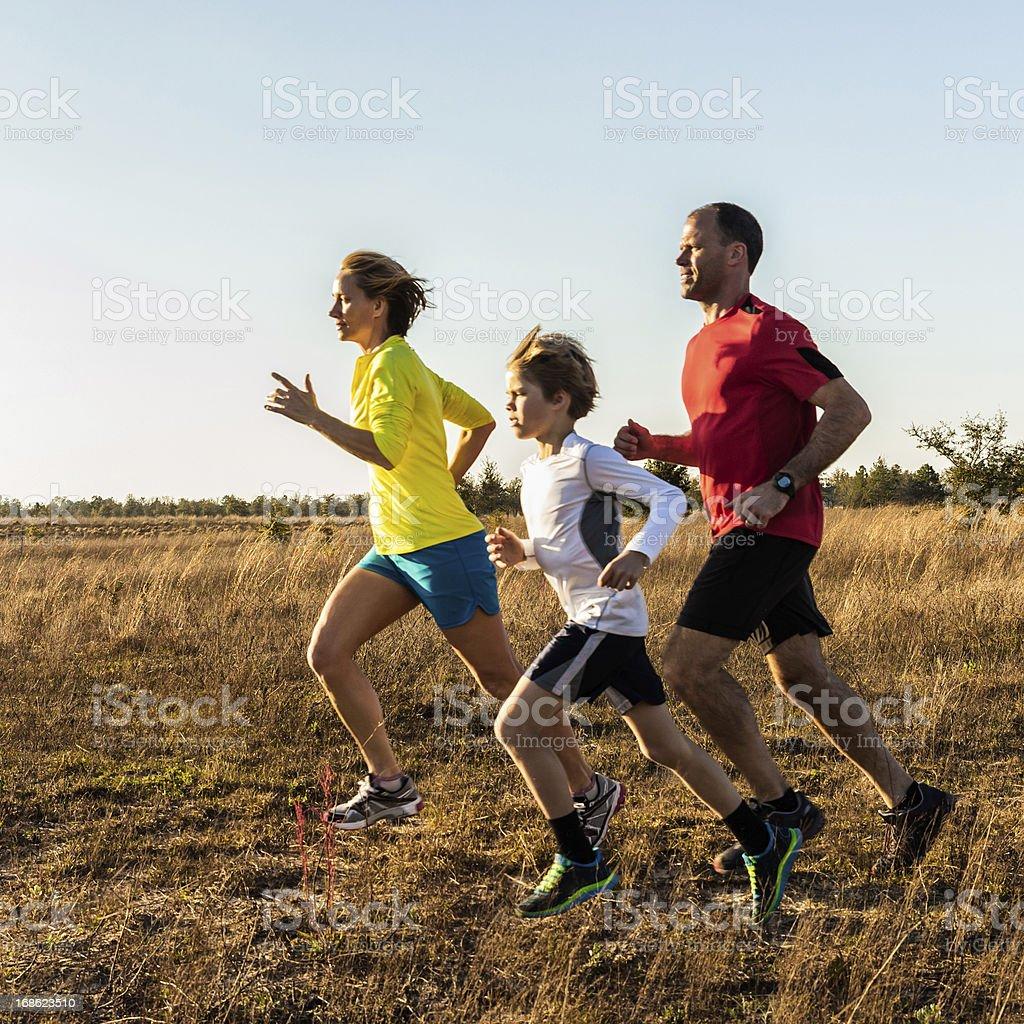 Family Jogging royalty-free stock photo