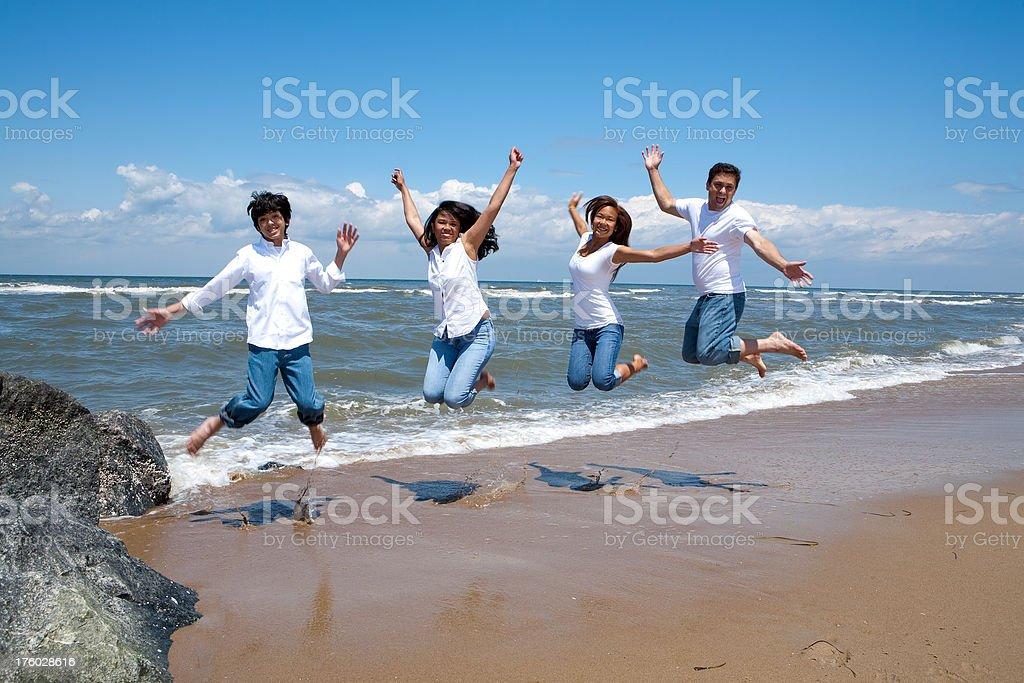 Family Jumping royalty-free stock photo