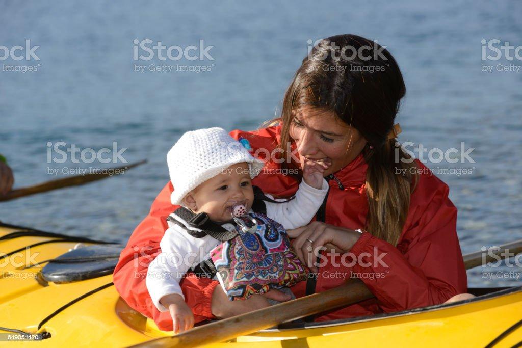 Family Kayak stock photo