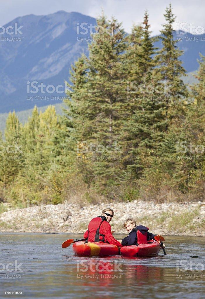 Family Kayaking royalty-free stock photo