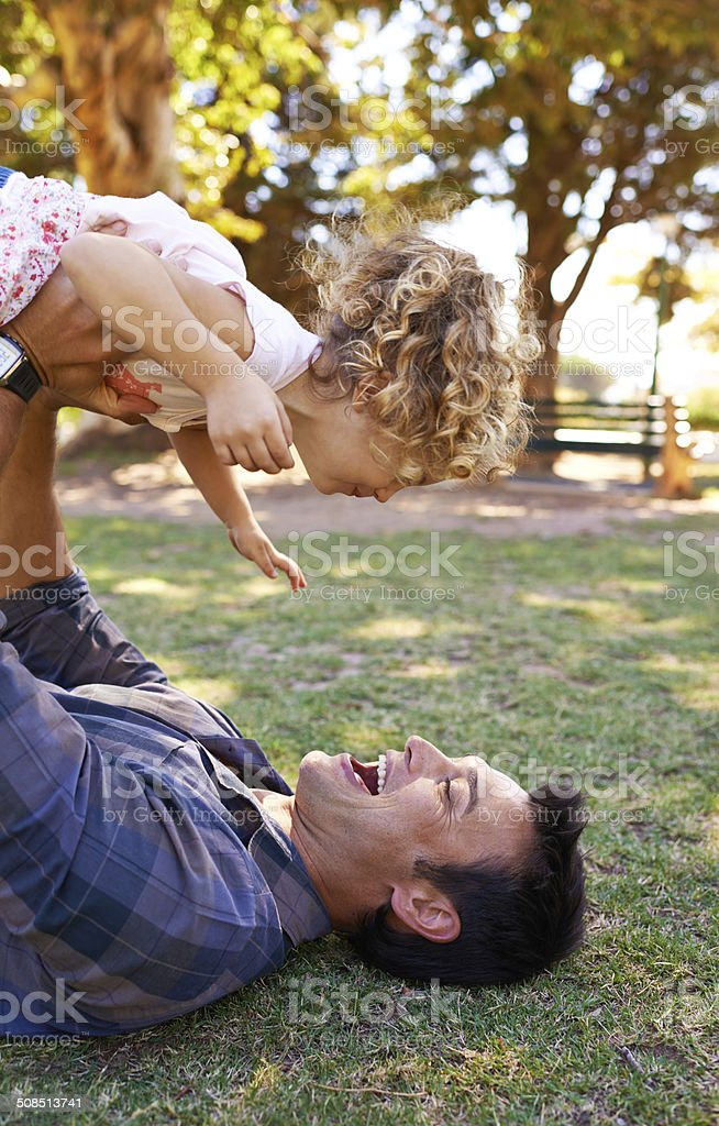 Family laughter is infectious! royalty-free stock photo