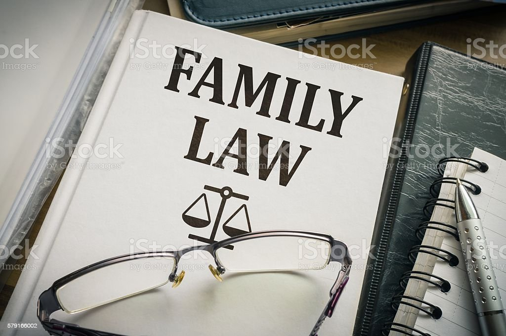Family law book. Legislation and justice concept. stock photo