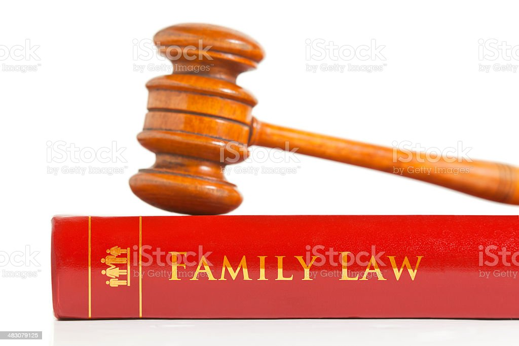 Family Law Book royalty-free stock photo