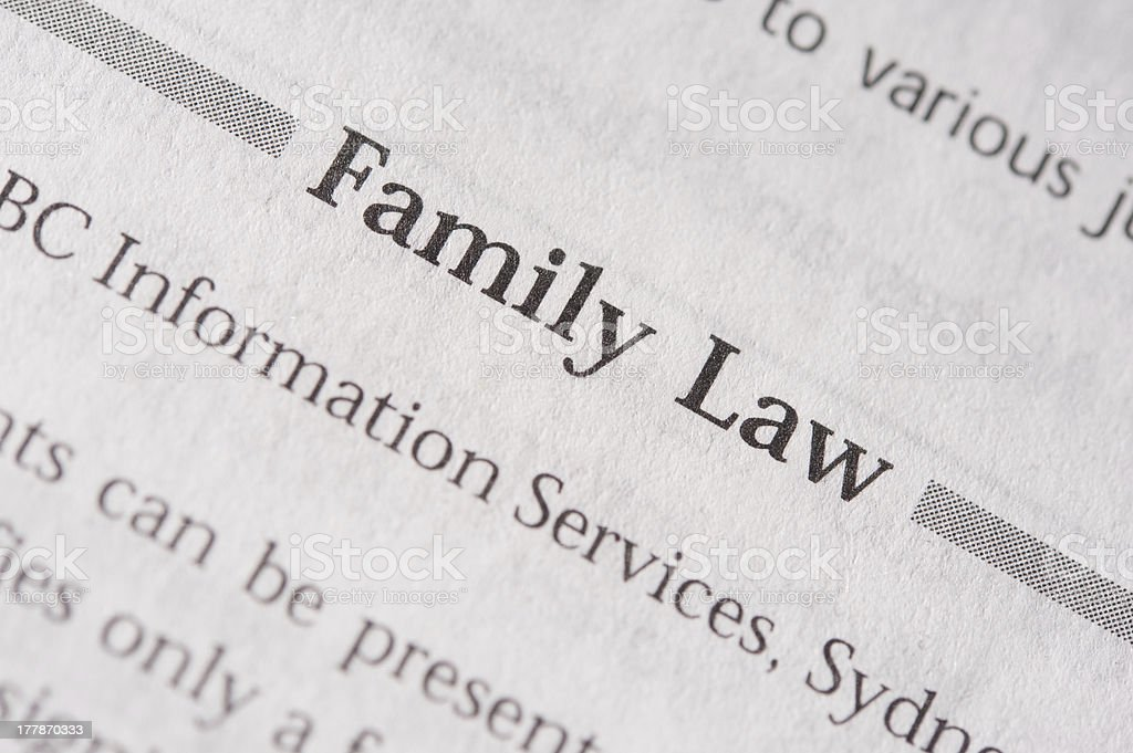 Family Law royalty-free stock photo
