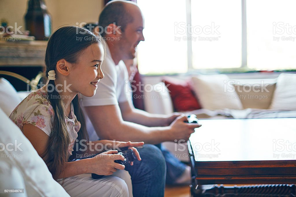 Family leisure time stock photo