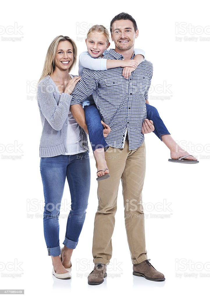 Family life agrees with them! stock photo