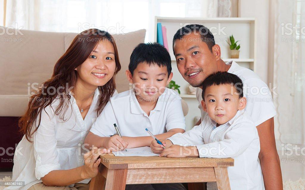Family life stock photo