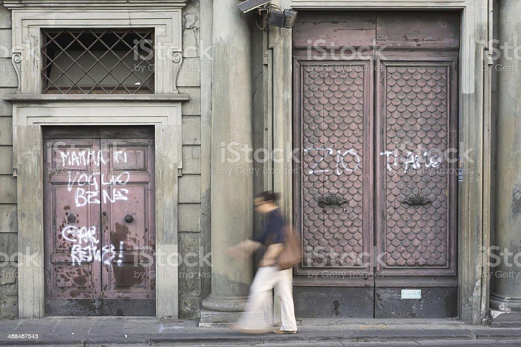 Family love in Italian graffiti royalty-free stock photo
