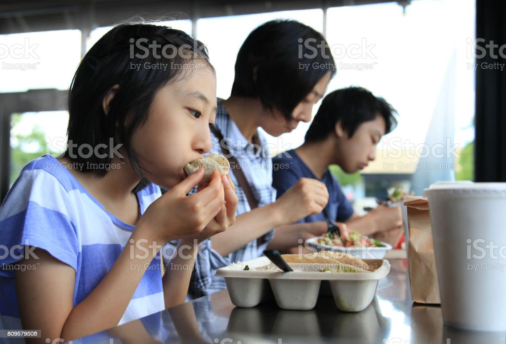 Family Lunch Out stock photo