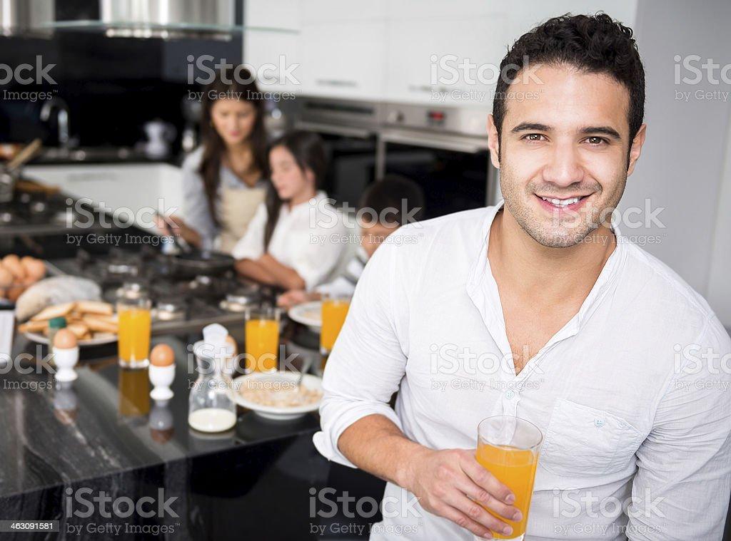 Family man royalty-free stock photo