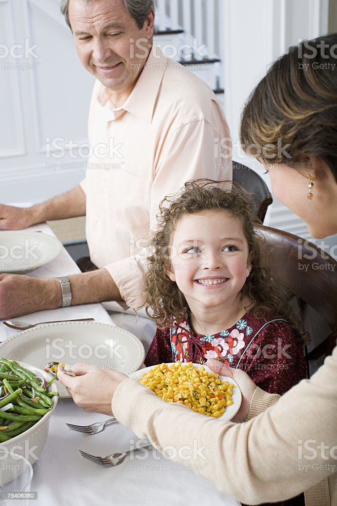 Family meal royalty-free stock photo
