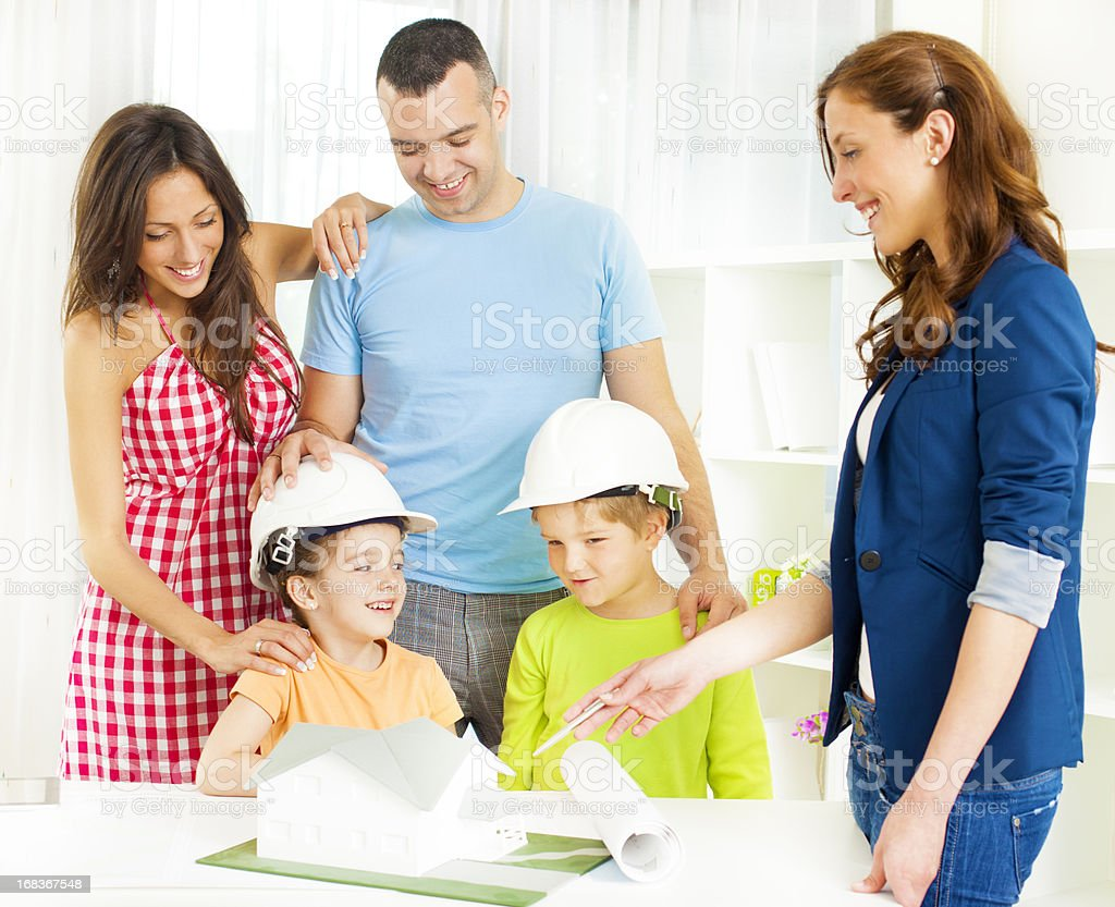 Family Meeting With Architect. royalty-free stock photo