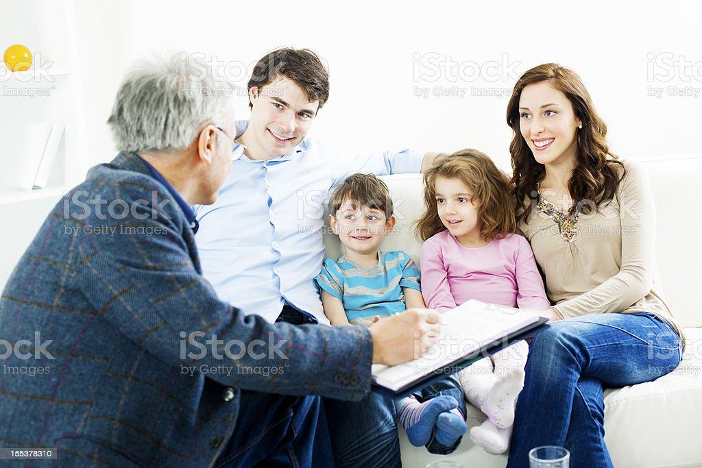 Family Meeting With Financial Advisor royalty-free stock photo