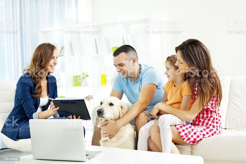 Family Meeting With Financial Advisor stock photo