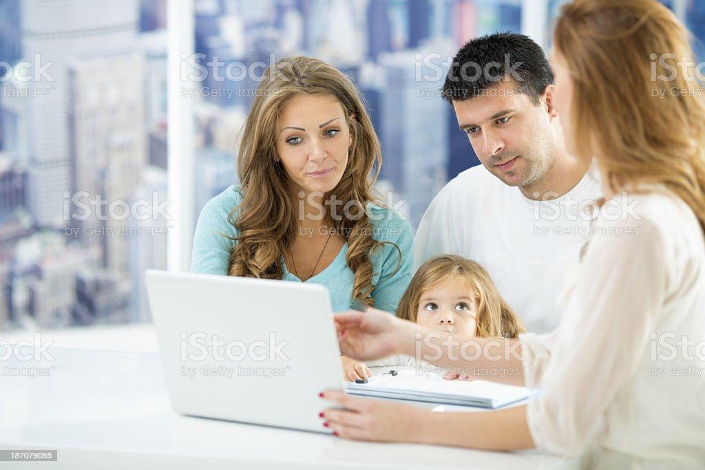 Family meeting with financial advisor. royalty-free stock photo