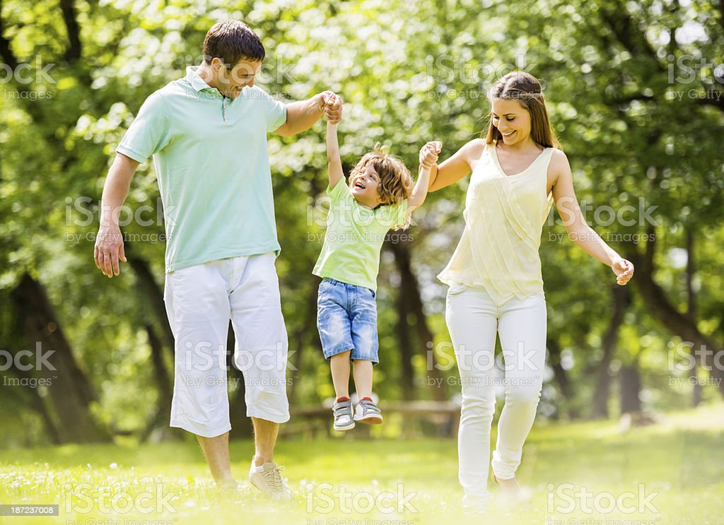 Family moment in nature. royalty-free stock photo
