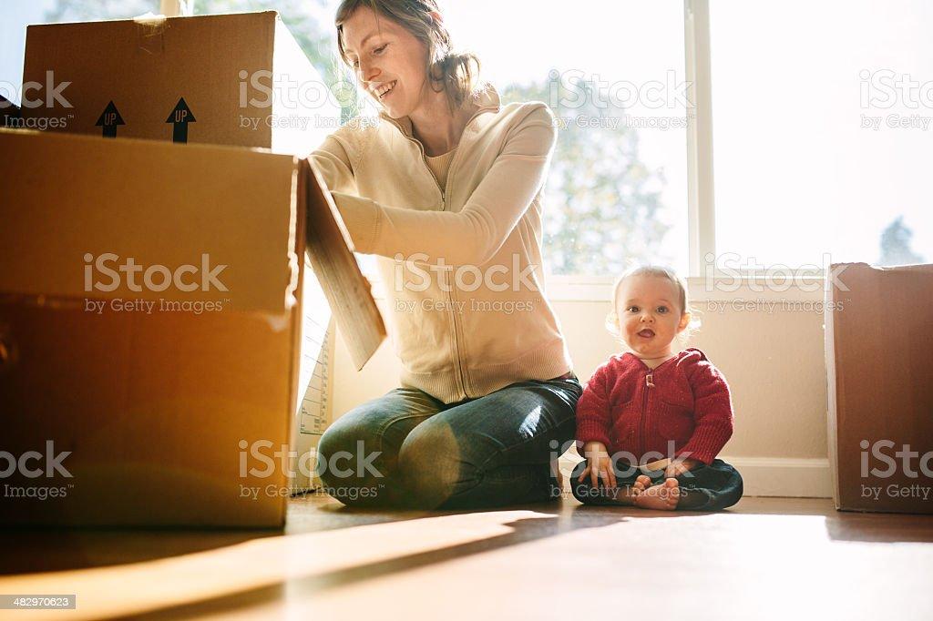 Family Move stock photo