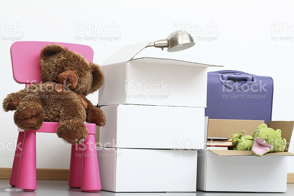 Family moving in stock photo